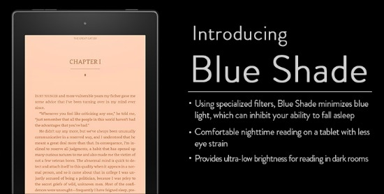 Amazon Fire Tablet Blue Shade