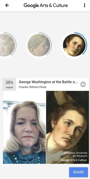 George Washington Google Face Match