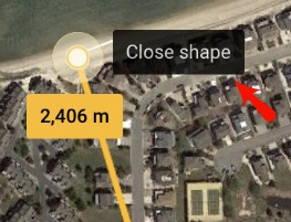 Close Shape Google Earth Measure Area