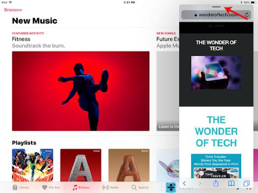 iPad App Move Bar