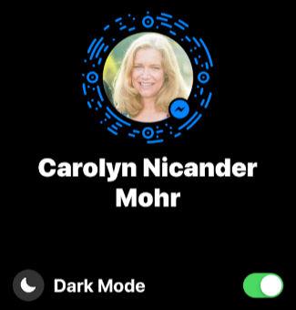 Facebook Messenger App Settings Dark Mode