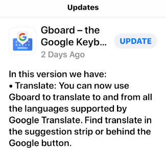 a338c1344fb To translate what you type using Gboard, open an app where you type words,  such as email, text messages, Messenger or other text-based app.