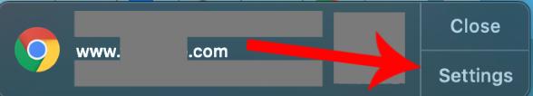 Sample Chrome notification