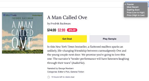 Audiobook listing Chirp