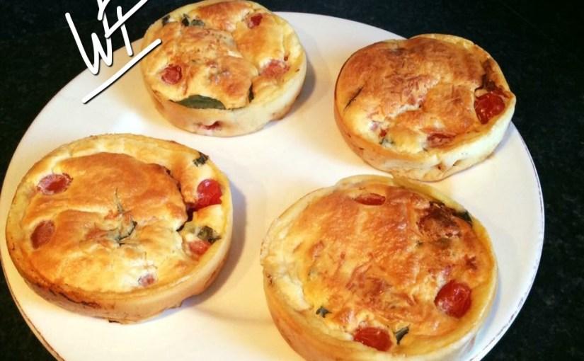 Clafoutis (Quiche sans pâte) aux tomates cerises avec ou sans Companion ultra rapide