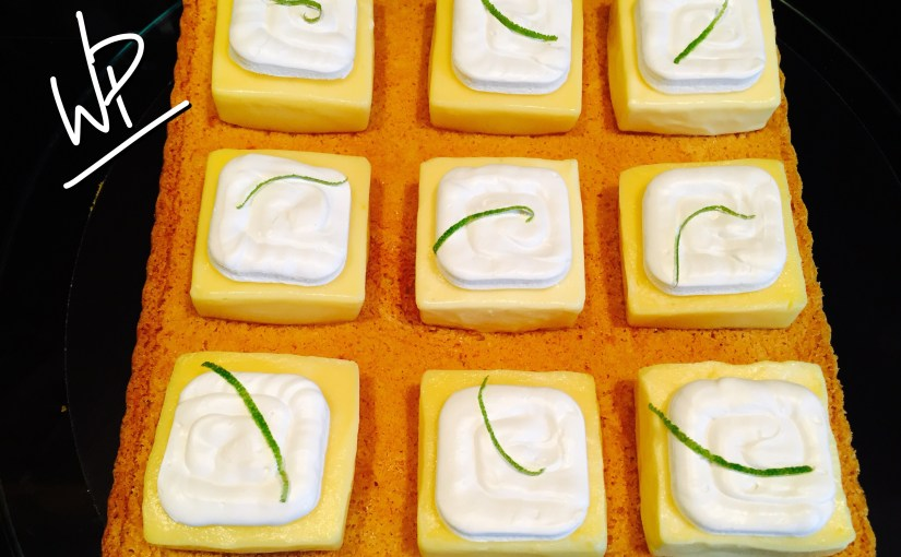La tarte au citron meringuée «damier» ou le gâteau qui m'a fait accéder à l'émission concours LES ROIS DU GATEAU cet été 2017 !