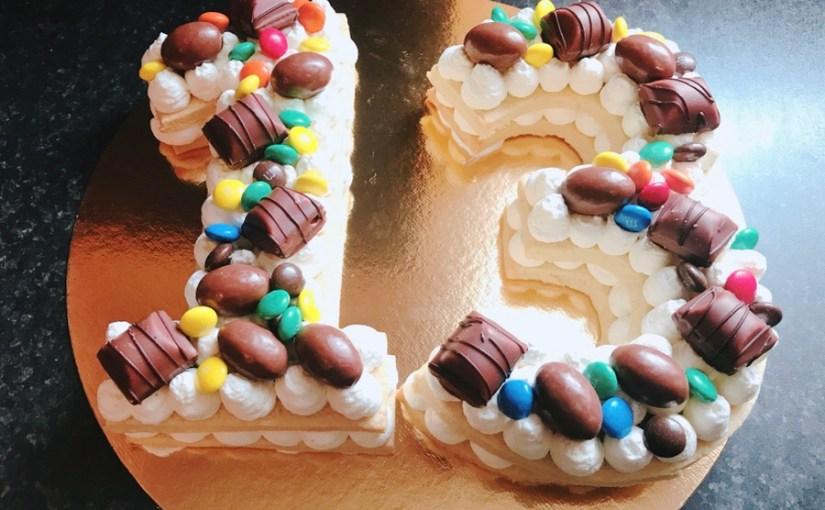 Number Cake – Gâteau chiffres Chantilly Mascarpone