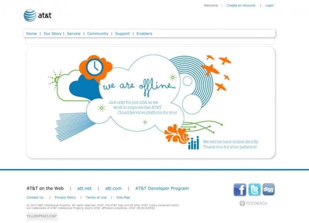 AT&T Cloud Services Splash Page Version #1 - Designed by Carolann DeMatos