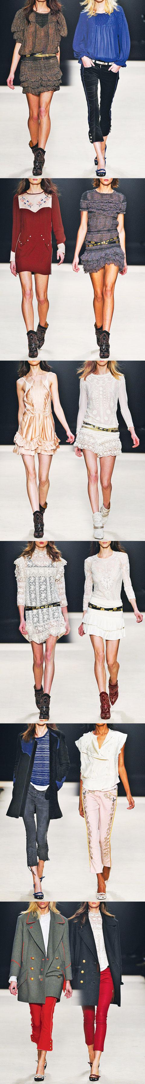 Isabel Marant Fashion Week 2012 LookBook {via M'oda 'Operandi}