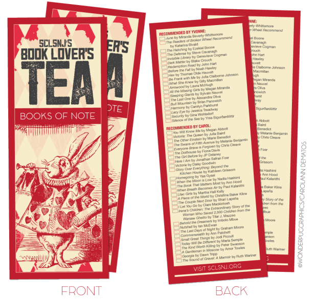 SCLSNJ's First Annual Book Lover's Tea [2016]