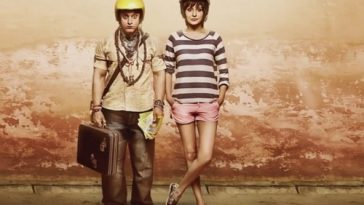PK movie-Aamir and Anushka