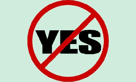 Not saying 'No'