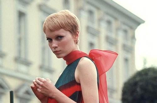 Mia Farrow's Pixie Crop