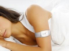 women wearing a BodyMedia's Adhesive Patch