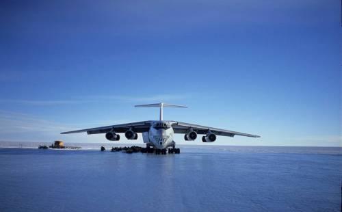 Ice Runway in Antarctica