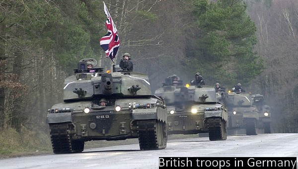 British troops in Germany