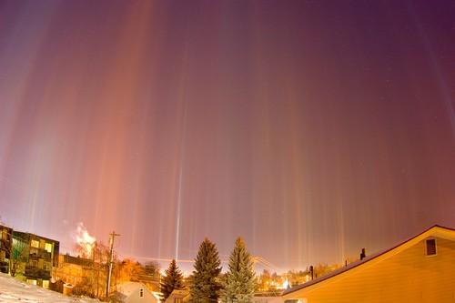 Light Pillars Amazing Things In Nature