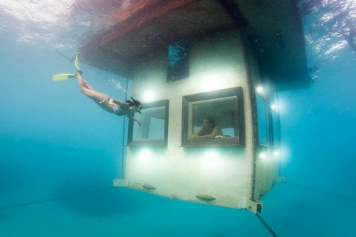 Manta Underwater Room in Zanzibar