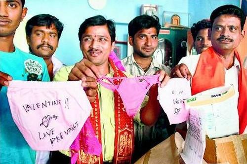 Pink Chaddi Campaign most bizarre protests