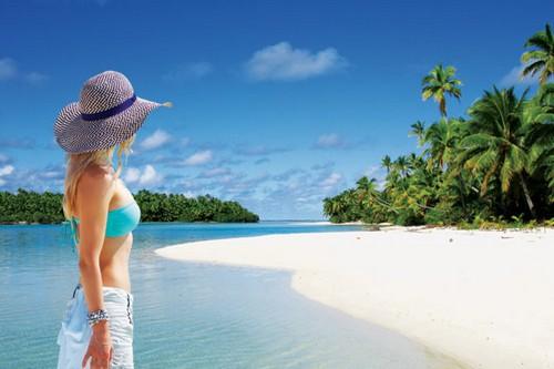 Cook Islands woman on beach
