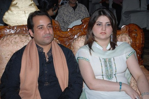 Rahat Fateh Ali Khan with Wife