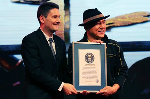 Jackie Chan awarded with Guinness World Records