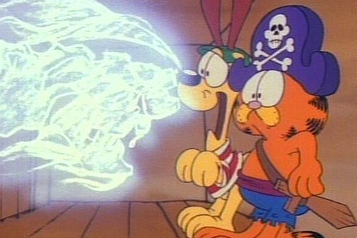 Garfield On The Ghost Pirates
