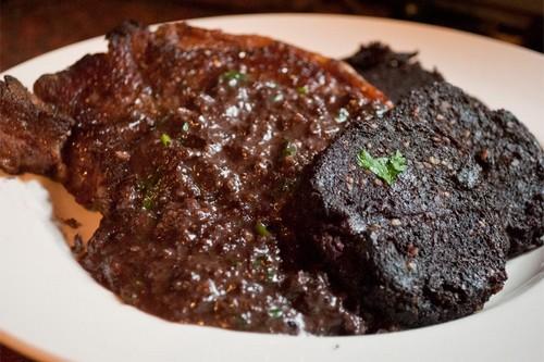 Sirloin Steak with Black Pudding