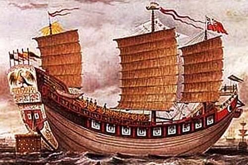 Three-masted Chinese ocean-going junk, Tek Sing