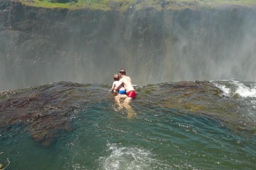 Devil's pool in Victoria Falls