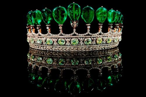 Emerald and Diamond Tiara