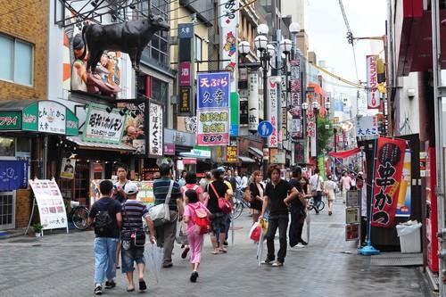 Food Street in Osaka, Japan