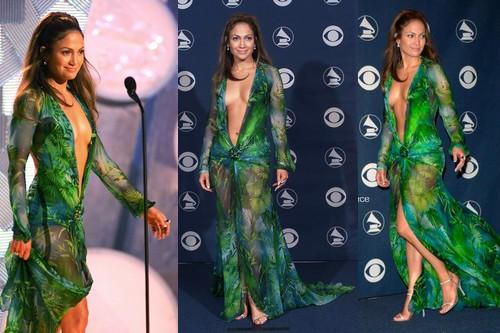 Jennifer Lopez's Grammy Awards dress