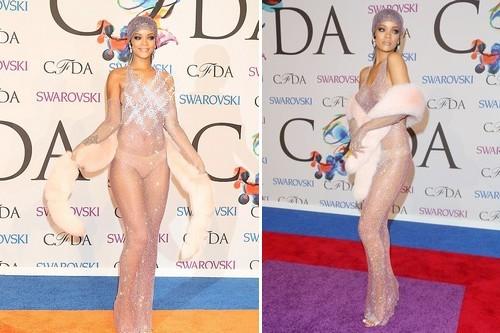 Rihanna CFDA Awards dress