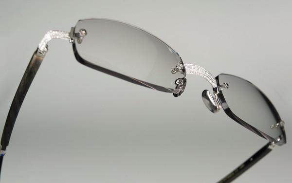 Gold and Wood 253 Diamond Sunglasses