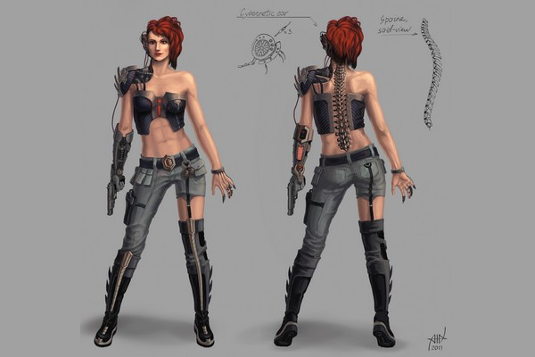Cyborg girl concept by PVersus
