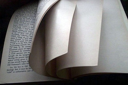 Blank pages in books