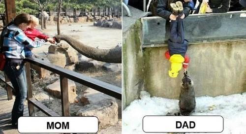 Mom and Dad at Zoo