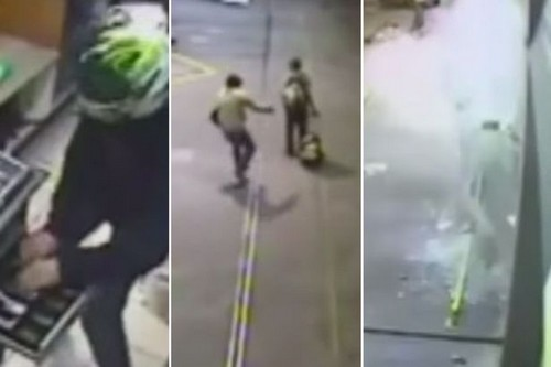 Robber saves homeless guy from explosion