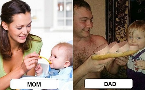 differences between mom and dad
