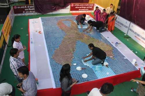 World's Largest Condom Mosaic