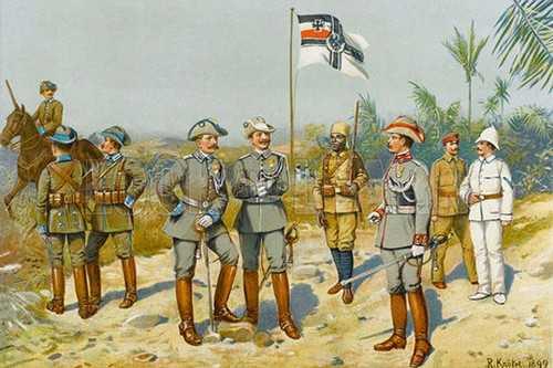 German Troops in Africa
