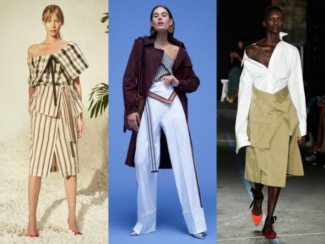 Folding waistlines Summer fashion trends