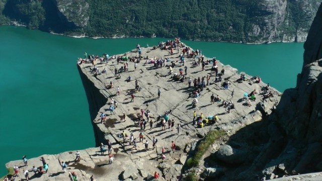 Preacher's Pulpit Rock – Preikestolen is One of the Most Visited Natural Tourist Attractions in Norway.