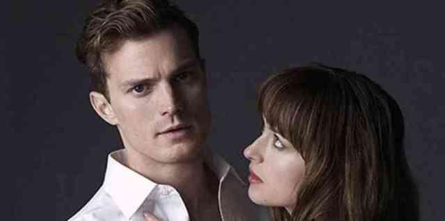 Dakota Johnson as Ana Steele and Jamie Dornan as Christian Grey for 'Fifty Shades Of