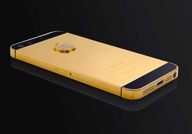 Stuart Hughes Gold and Black Diamond iPhone 5