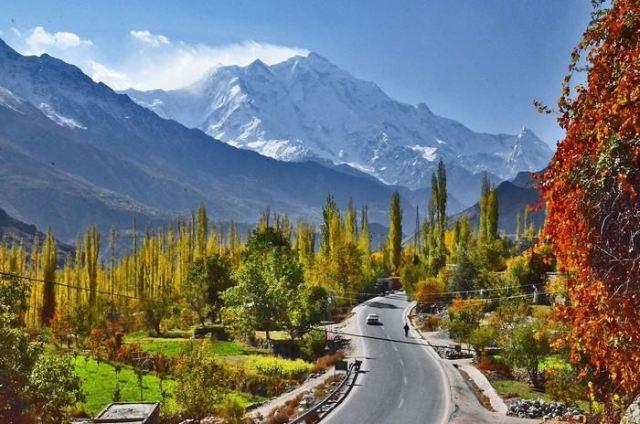 Beautiful Hunza Valleys in Pakistan