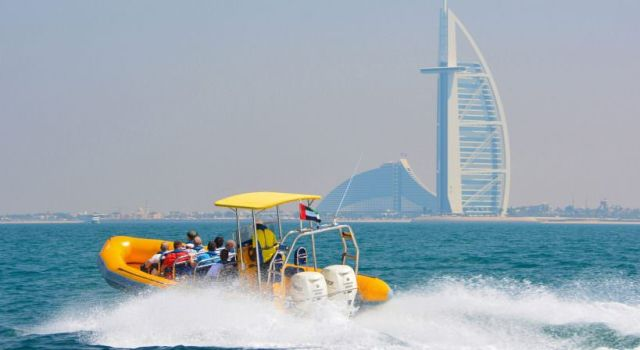Ride in a speed boat