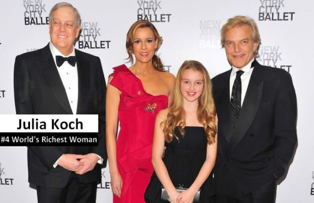 Julia Koch and Family