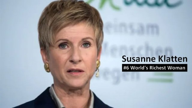 Susanne Klatten richest women in the world 2021